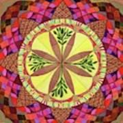 Pine Cone Mandala Art Print