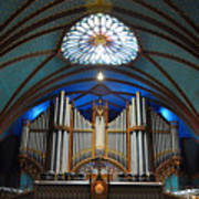 Pipe Organ Of Montreal Notre-dame Art Print
