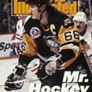 Pittsburgh Penguins Mario Lemieux, 1992 Nhl Stanley Cup Sports Illustrated Cover Art Print