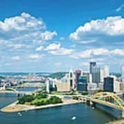 Pittsburgh, Pennsylvania Skyline With Art Print