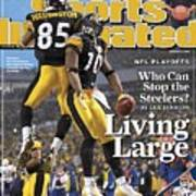 Pittsburgh Steelers Nate Washington And Santonio Holmes Sports Illustrated Cover Art Print