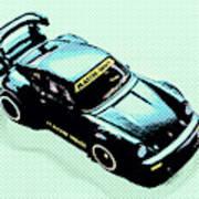 Pixel Porsche Art Print