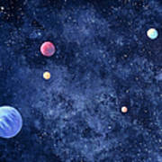 Planets In Solar System Art Print