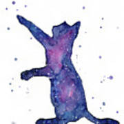 Playful Galactic Cat Art Print