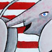 Politics Stick Art Print