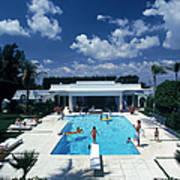Pool In Palm Beach Art Print