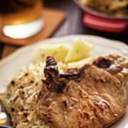 Pork Chop And Sauerkraut Art Print