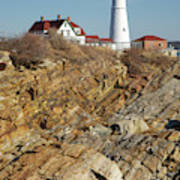 Portland Head Light - Cape Elizabeth Maine Art Print