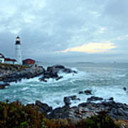 Portland Head Lighthouse At Sunrise Art Print