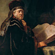 Portrait Of A Rabbi Art Print