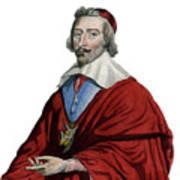 Portrait Of Cardinal Richelieu, Armand Jean Du Plessis Art Print