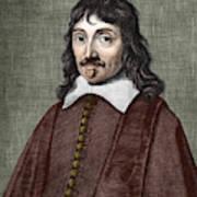Portrait Of Descartes Art Print