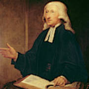 Portrait Of John Wesley Art Print