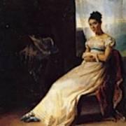 Portrait Of Laura Bro 1820 Art Print