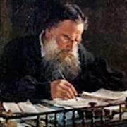 Portrait Of Leo Tolstoy Art Print