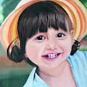 Portrait Of Little Girl. Art Print