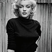 Portrait Of Marilyn Monroe Art Print