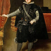 Portrait Of Philip Iv  Art Print