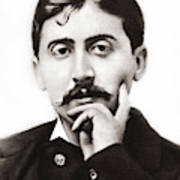 Portrait Of The French Author Marcel Proust Art Print