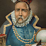 Portrait Of Tycho Brahe Art Print