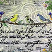 Praise Birds Art Print