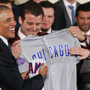 President Obama Welcomes World Series Art Print