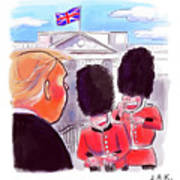 Presidential Visit To The Uk Art Print