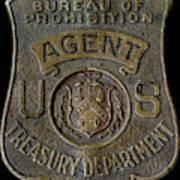 Prohibition Agent Badge Art Print