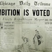 Prohibition Voted Out Art Print