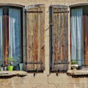 Provence Windows Art Print