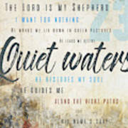 Psalm 23 Quiet Waters Art Print