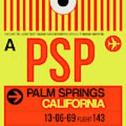Psp Palm Springs Luggage Tag I Art Print