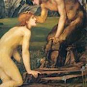 Psyche And Pan 1874 Art Print