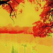 Psychedelic Lake Art Print