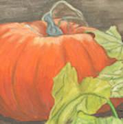 Pumpkin In Patch Art Print