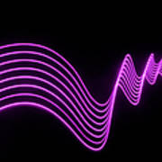 Purple Abstract Lights Trails And Art Print