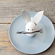 Rabbit Decoration On Plate Art Print
