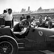 Racing Ferrari Art Print