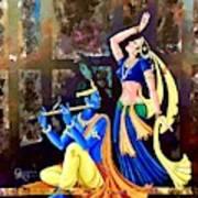 Radhakrishna Art Print