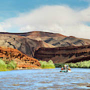Rafting On The San Juan River Art Print