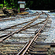 Railroad Siding Tracks Art Print