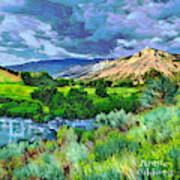 Rain Clouds On The Way To Sweetwater Art Print