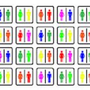 Rainbow Gender Men Women Study Art Print