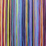 Rainbow Stripes Purple Gold 201912 Art Print