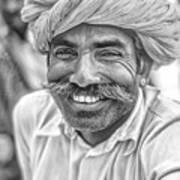 Rajput High School Teacher Bw Art Print