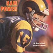 Ram Power L.a. Quarterback Vince Ferragamo Sports Illustrated Cover Art Print