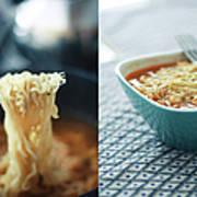 Ramen Noodles Diptych Art Print