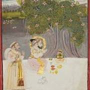Rana Sangram Singh Worshipping A Linga Art Print
