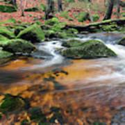 Rapids On Jedlova Brook, Jizera Mountains,  Czech Republic Art Print