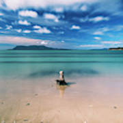 Raspins Beach In Orford On The East Coast Of Tasmania. Art Print